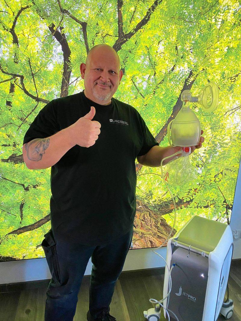 Landsberg verwandelt JetPeel™ in Atmungsunterstützungssysteme