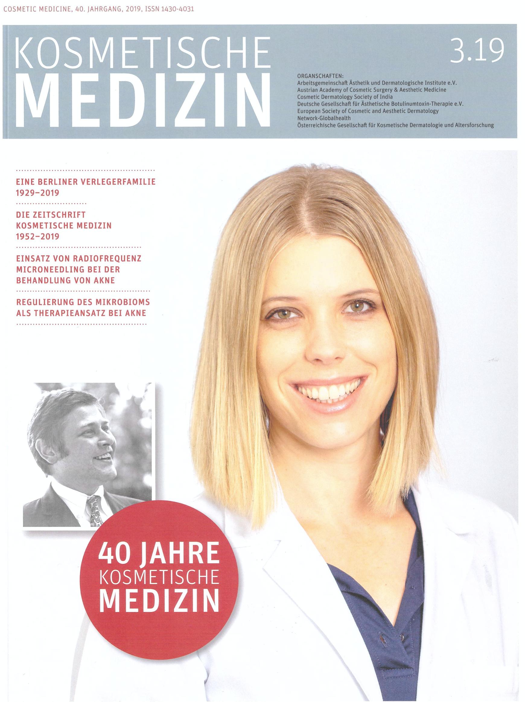"""Jetop Hair Behandlung – Dr. Hans-Ulrich Voigt berichtet in der """"Kosmetische Medizin"""""""