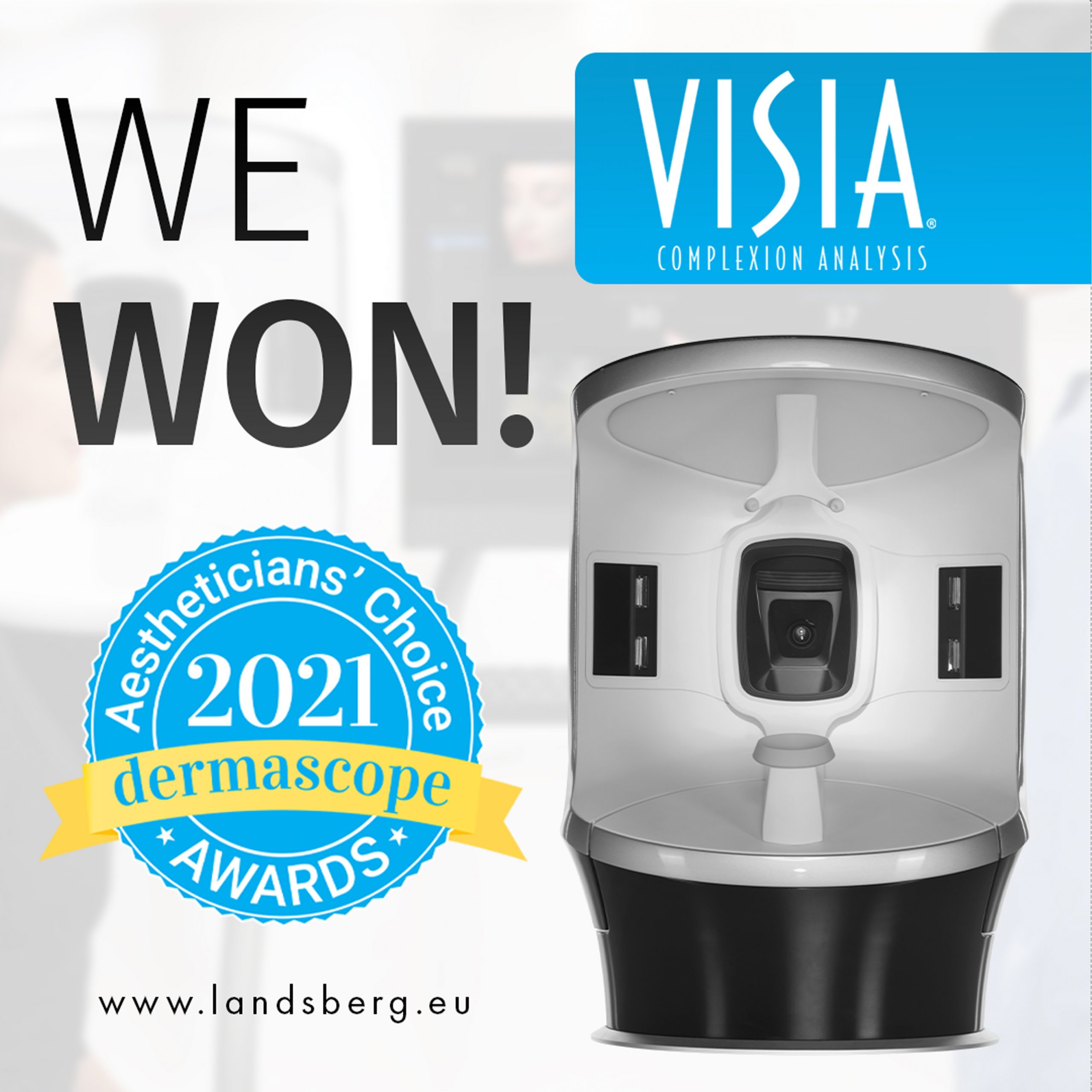 "Canfield's VISIA® wins ""Aestheticians' Choice Award 2021"""